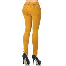· Jeans Fergino Dama De Gabardina Strech Mostaza Szp369