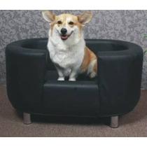 Remate Sofa Cama Gde Negro Piel 105x84cm Perro Niño E4f