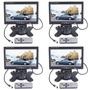 Monitor 7 Pulgadas Lcd Color Seguridad C/remoto P/2 Camaras