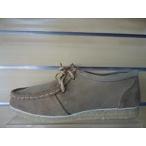 Sapato Camurça Solado Em Latex Tipo 775 Cor Castor