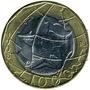 Moneda Bimetalica De 1000 Lire De Italia De 1998