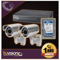 Cctv Kit Dvr 4 Camaras + Disco Duro Truvision
