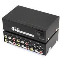 Distribuidor Rca Audio Video Composto 1x4 Splitter Estereo