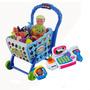 Combo Caja Registradora Carrito Supermercado Juguete Niños