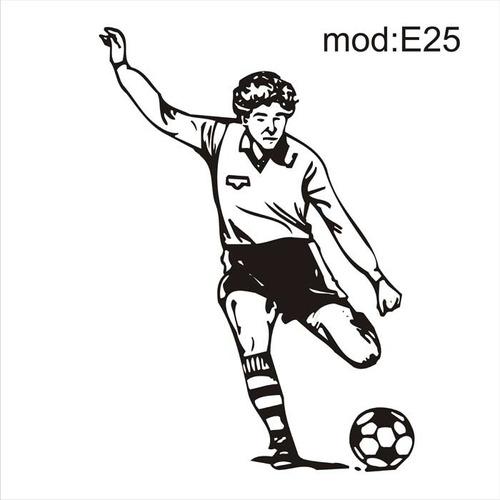 Artesanato Junino ~ Adesivo E25 Futebol Bola Chuteira Jogador Pernas Chutando R$ 48,60 em Mercado Livre