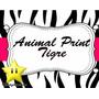 Kit Imprimible Animal Print Zebra Y Tigre Diseñá Tarjetas