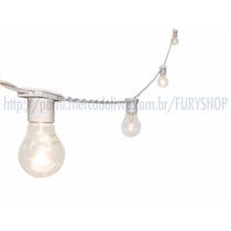 Varal De Luzes - Cordão Lâmpadas - Iluminação - 10m Branco
