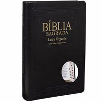 Bíblia Sagrada Almeida Índice Letra Gigante Luxo Preta