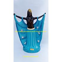Escultura Orixa Africano Iemanja Rainha Do Mar Imagem 45cm