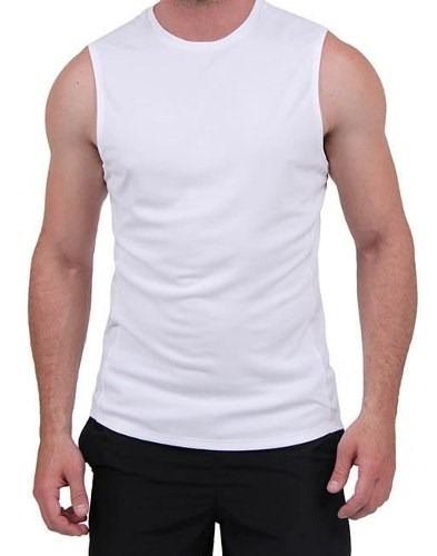 bde4109666 Camiseta Machão Branca Dry Fit 100%poliester - R  22