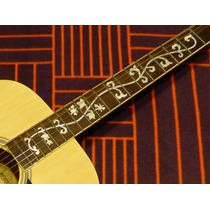 Guitarra Acústica Burmeister **diapasón Decorado