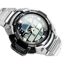 Reloj Casio Sgw 400 Altimetro Barometro Termometro Acero!