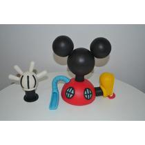 Adorno De Torta De La Casa De Mickey Mouse En Porcelana Fria