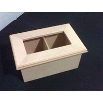 Cajas De Te Vidrio X 2 Div. Fibrofacil Artesania Decorar