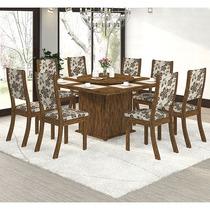 Conjunto Para Sala De Jantar Mesa E 8 Cadeiras Viero Sara