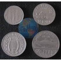 Lote 12 Moedas 100, 200, 300 E 400 Réis 1936/37/38
