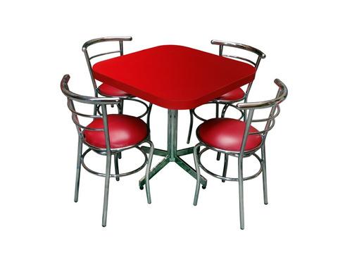 Mesa juego con 4 sillas para restaurante comedor barato ch75 1 en mercado libre - Sillas para cafeteria ...