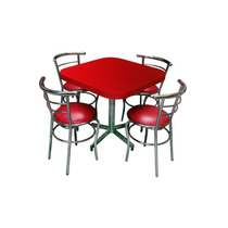 Mesa C/4 Sillas Para Restaurante Bar Cafeteria Cocina Ch75c