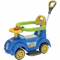 Carrinho Baby Car Com Empurrador Menino Menina Carro Andador