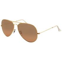 Ray Ban Aviador Rb3025 001/3e Tam 62 Dourado Pink-gold Large