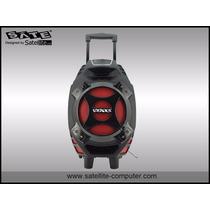 Caixa De Som Amplificada 300w Bateria 2 Mic S/fio Usb/sd
