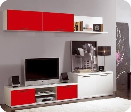 Mueble centro de tv pantalla plana lcd 3d 1 80 de largo - Muebles para televisiones planas ...