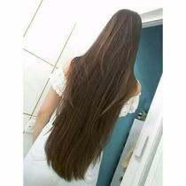 Cabelo Mega Hair Aplique Tic Tac Castanho Claro 85 Cm Lindo