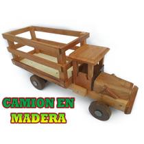 Carros Artesanales De Madera, Para Niños Tipo Camion
