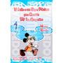 Tarjetas De Invitacion Mickey Mouse Piscinada - Invitaciones