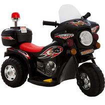 Mini Moto Eletrica Infantil Preta Triciclo Criança Menina 6v