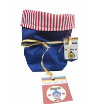Souvenir Infantil Bolsa De Tela Colores Payaso Plim Plim!