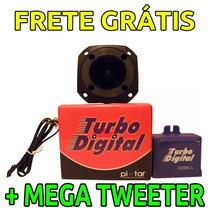 Simulador Turbo Digital Turbina Eletrônico C/ Mega Tweeter