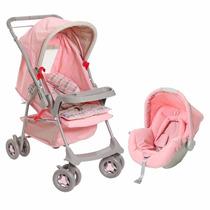 Carrinho De Bebê Milano Rosa Galzerano