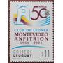 Osl Sello 1953 Uruguay Aniversario Club Leones Montevideo