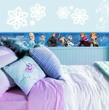 Cinta decorativa hd frozen disney vinil adhesivo anna for Habitaciones para ninas frozen