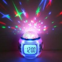 Reloj Despertador Proyector De Estrellas Ambientacion H9005