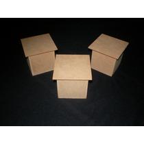 Cajitas De Fibrofacil De 6x6x6,sin Pintar X 20unidades!!!