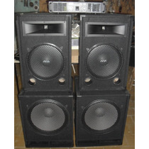 Combo Profesional De Sonido 2400w C/graves18y Potencia 700w