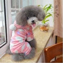 Roupa Cachorro Macacão Inverno Com Gorro Tam P Ao Gg