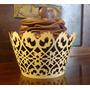 Forminha Saia Wrapper Para Cupcake 150und Dourado Ouro Nobre