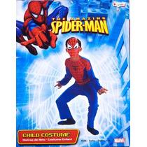 Disfraz Spiderman Hombre Araña Niño Talla 7 A 8 Años