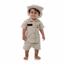 Conjunto Infantil Fantasia Safari Bebê C/chapéu Sulamaricana