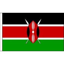 Bandera De Kenia - Kenia Premium Satinado Tabla 22.5x 15cm P