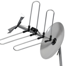Antena Externa Mini Parabólica Sat1 - Vhf / Uhf / Hdtv