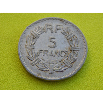 Moeda Da França De 5 Francs De 1949 (ref 55)