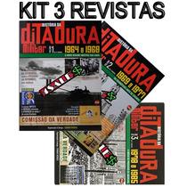 3 Revistas História Ditadura Militar Brasil 1964 A 1985 + Nf