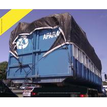 Lona Tela Preta Proteção Caminhão Caçamba Apara Preta 6x3 M