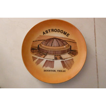 Plato Houston Texas Astrodome Retro Vintage Sports Deportes