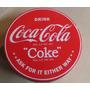 Lata Redonda Coca Cola 17 Centimetros Importada Original