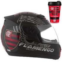 Capacete De Moto Flamengo Produto Oficial Pro Tork + Brinde